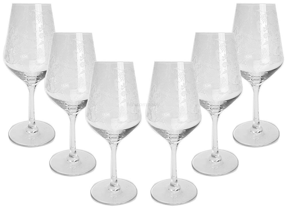 6 Stück Alie Weingläser / 6er Set Wein Glas / Gläser mit Druck