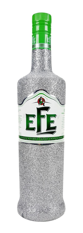Efe Raki Fresh Grapes Likör 0,7l 700ml (45% Vol) Bling Bling Glitzerflasche in silber -[Enthält Sulfite]