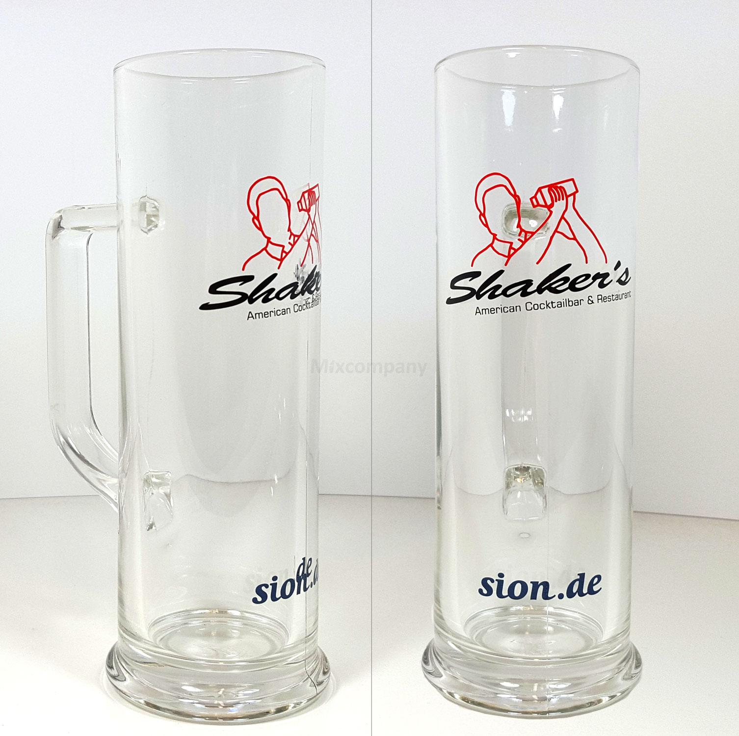 Shakers Bierglas / Glas 0,5L mit Henkel