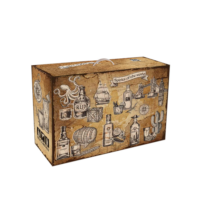 Spirituosen Tasting Adventskalender  - 24x verschiedene Spirituosen im Kalender - Weihnachten Gin Vodka Rum Tequila Whisky Likör Geschenk Set Probierset