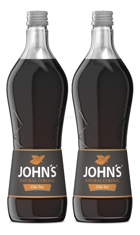 Johns Chai Tea Sirup für Cocktails 2x 0,7l = 1,4 Liter