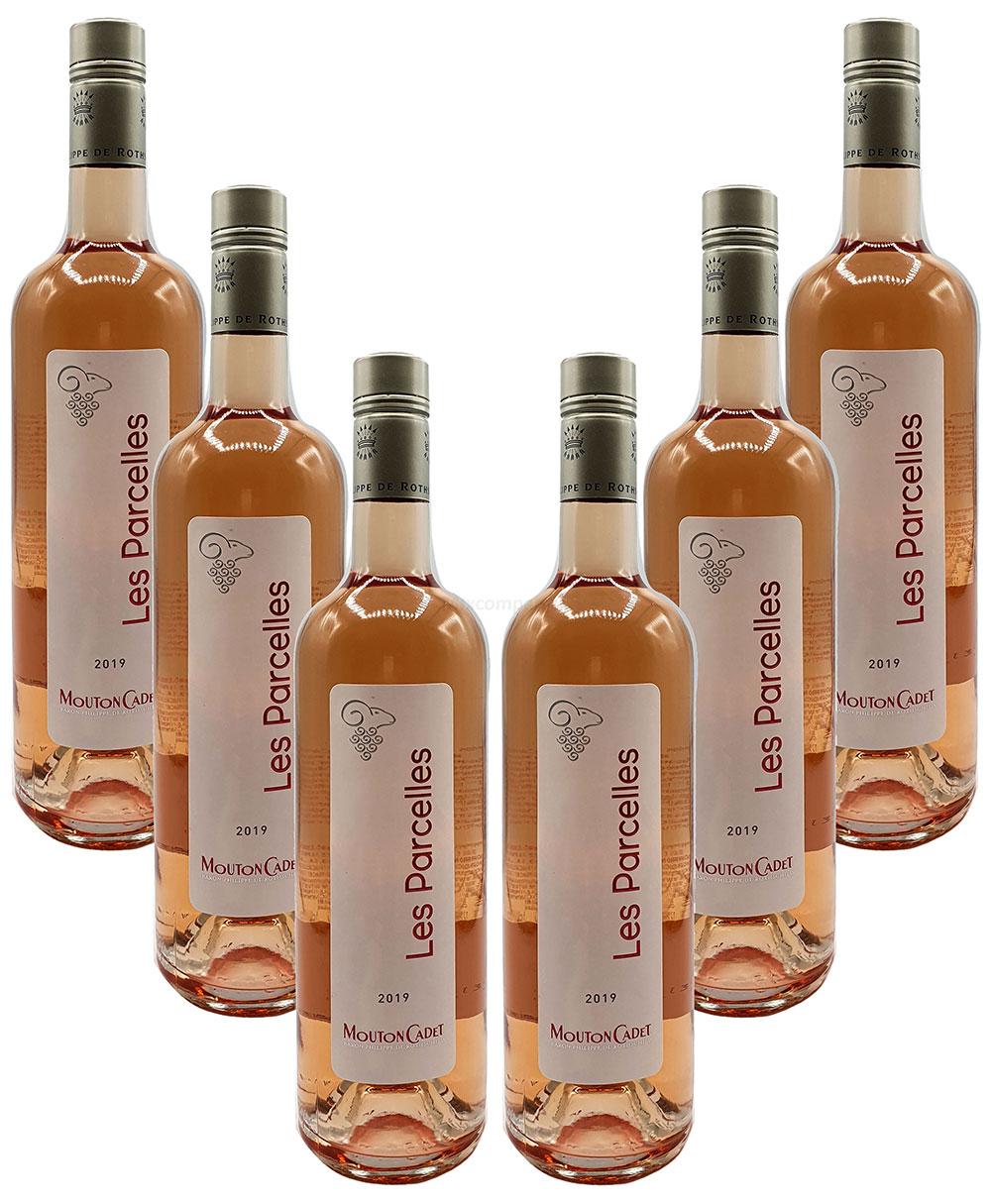 Rose Wein Set - 6x Les Parcelles Bordeaux 750ml (13% Vol)- [Enthält Sulfite]