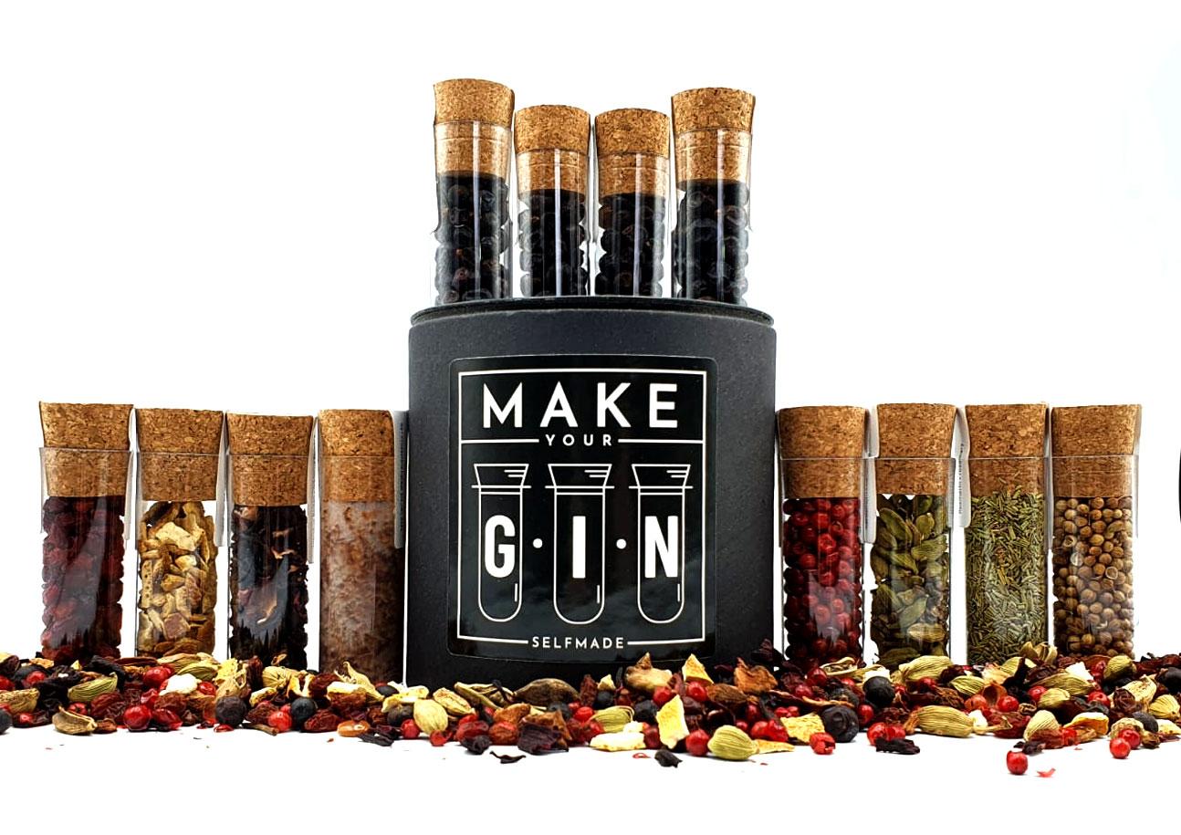 Make your Gin Box Nachfüllset 12 Gin Botanicals Natürliche Gin-Tonic Gewürze