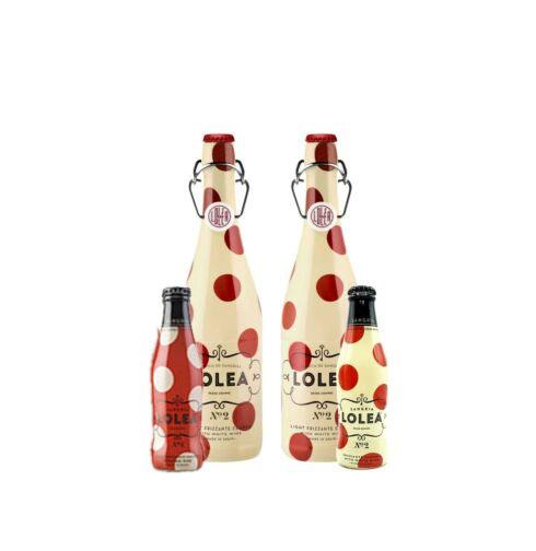 Lolea 2er Set Sangria N°2 WEIß 0,75L (7% Vol) 2x Weißwein Sangria Chardonnay + 2 Minis GRATIS N°5 ROT 0,2L (7% Vol) N°2 WEIß 0,2L (7% Vol)- [Enthält Sulfite]