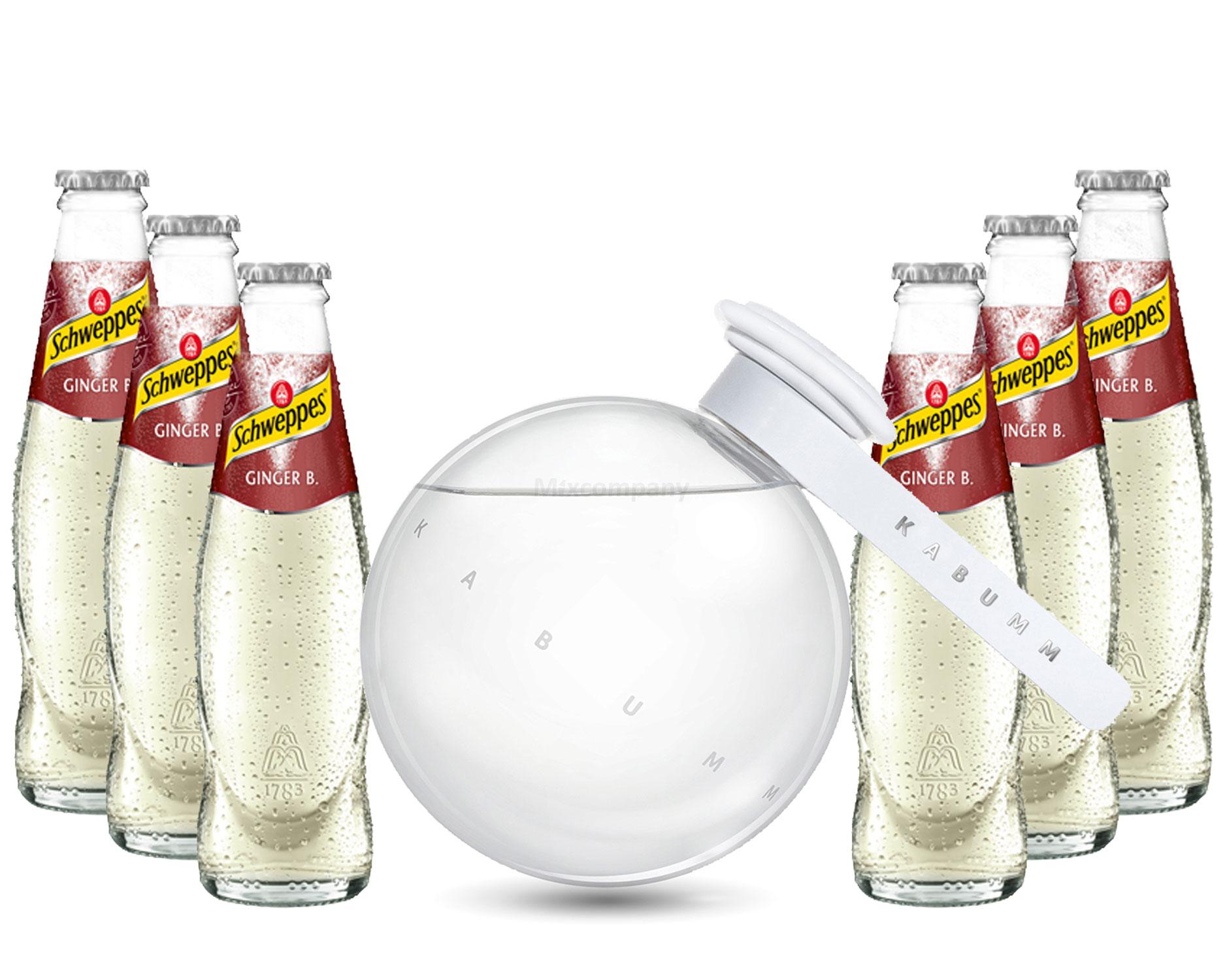 Moscow Mule Set - Kabumm Vodka 0,7l 700ml (40% Vol) + 6x Schweppes Ginger Beer 200ml - Inkl. Pfand MEHRWEG