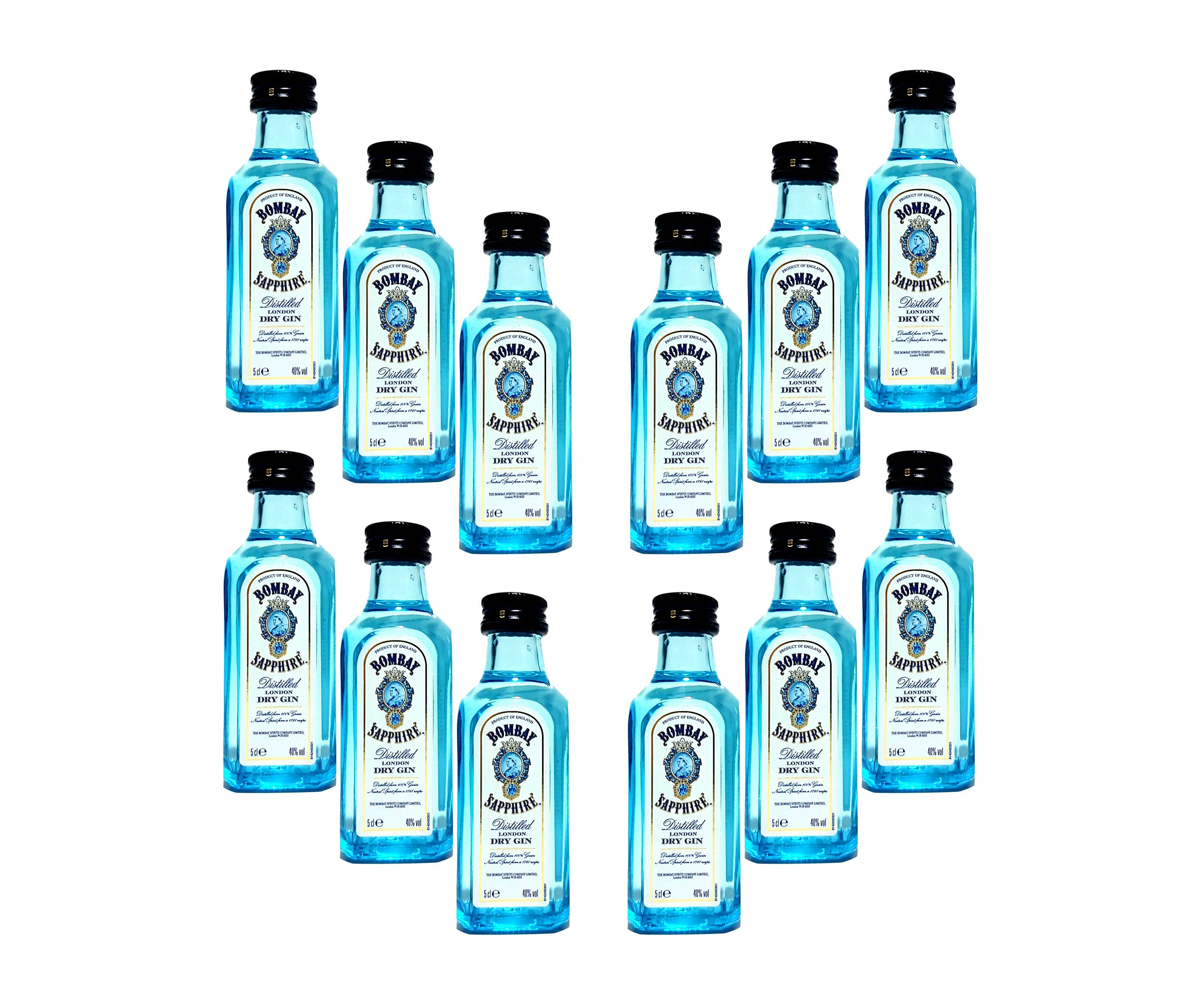 Bombay Sapphire Gin Minis - 12x 50ml (40% Vol)