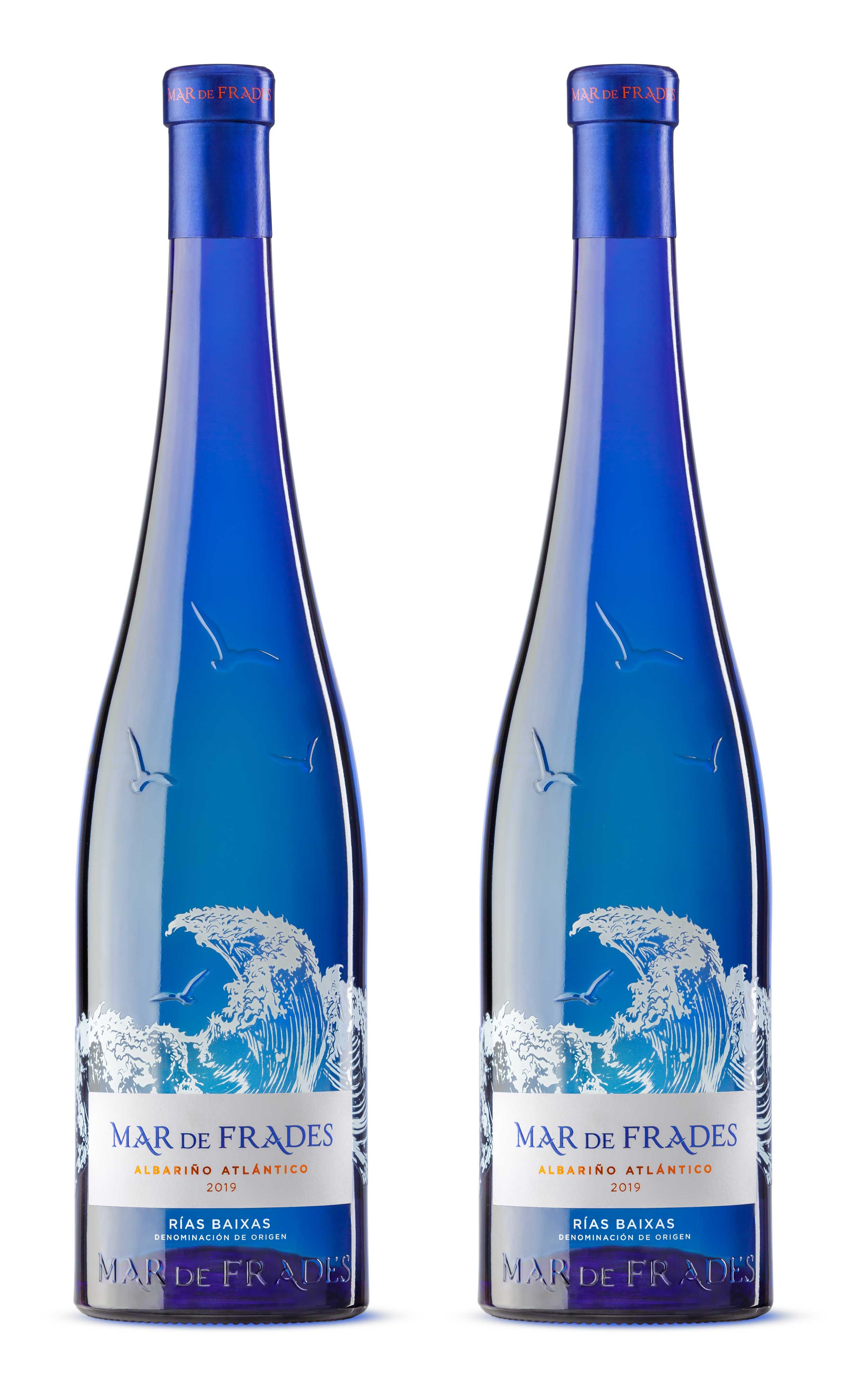 Mar de Frades 2er Set Albarino Atlantico 0,75L (12,5% Vol) 2x Weißwein Trocken Rebsorte: 100% Albarino- [Enthält Sulfite]