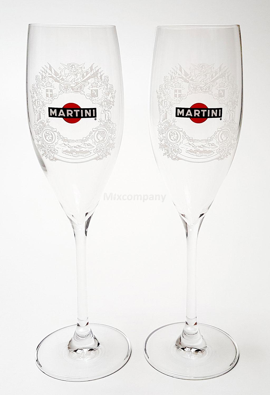 Martini Sekt / Tulpen / Champagner Glas Set - 2 Stück