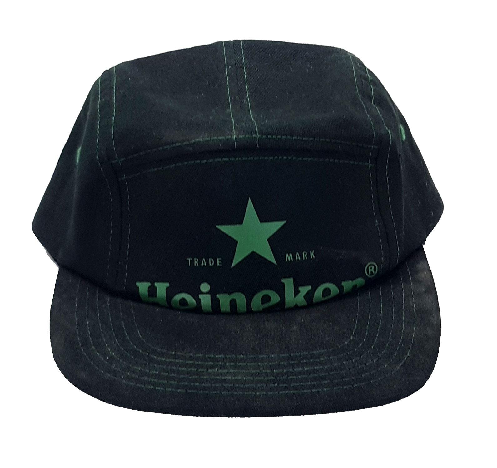 Heineken Kappe Basecap Cap Mütze schwarz grün Material : 100% Cotton