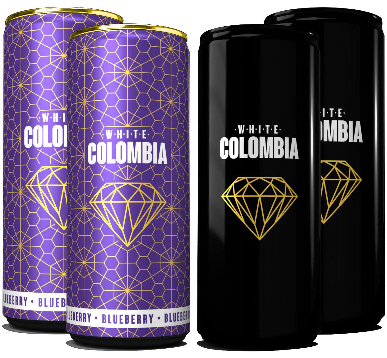 White Colombia Mix Set - Classic + Blueberry - 4x 250ml inkl. Pfand EINWEG