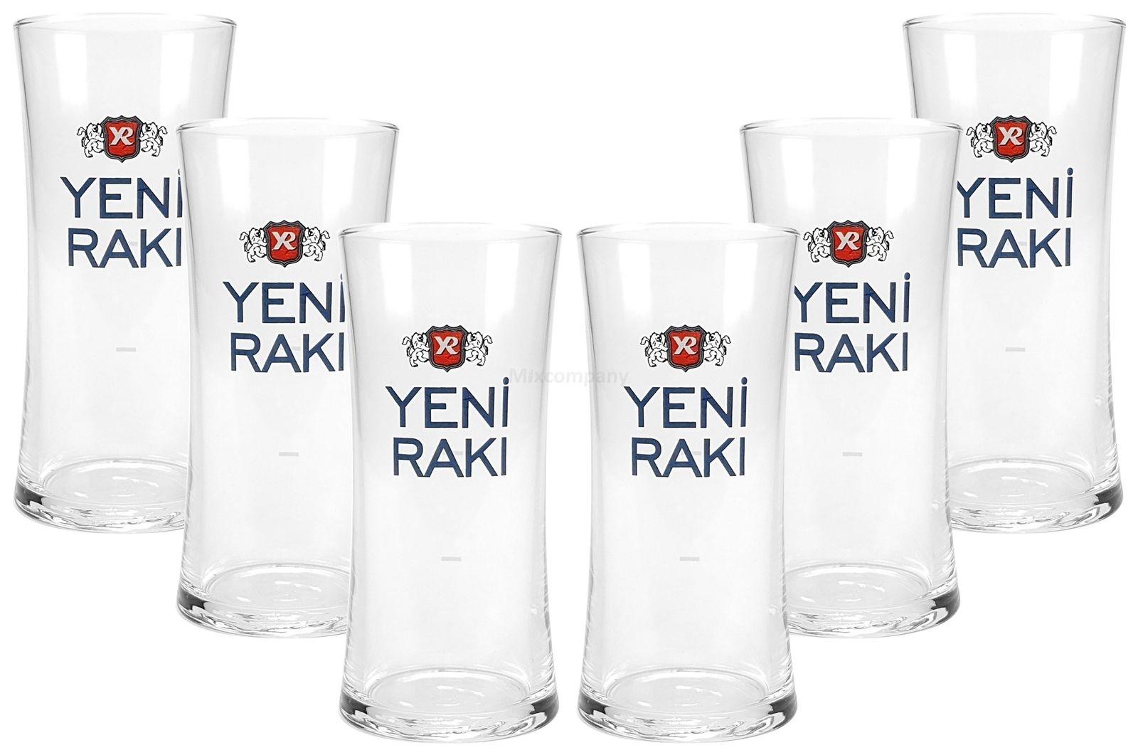 Yeni Raki Gläser Set- 6 Yeni Raki Longdrink Gläser