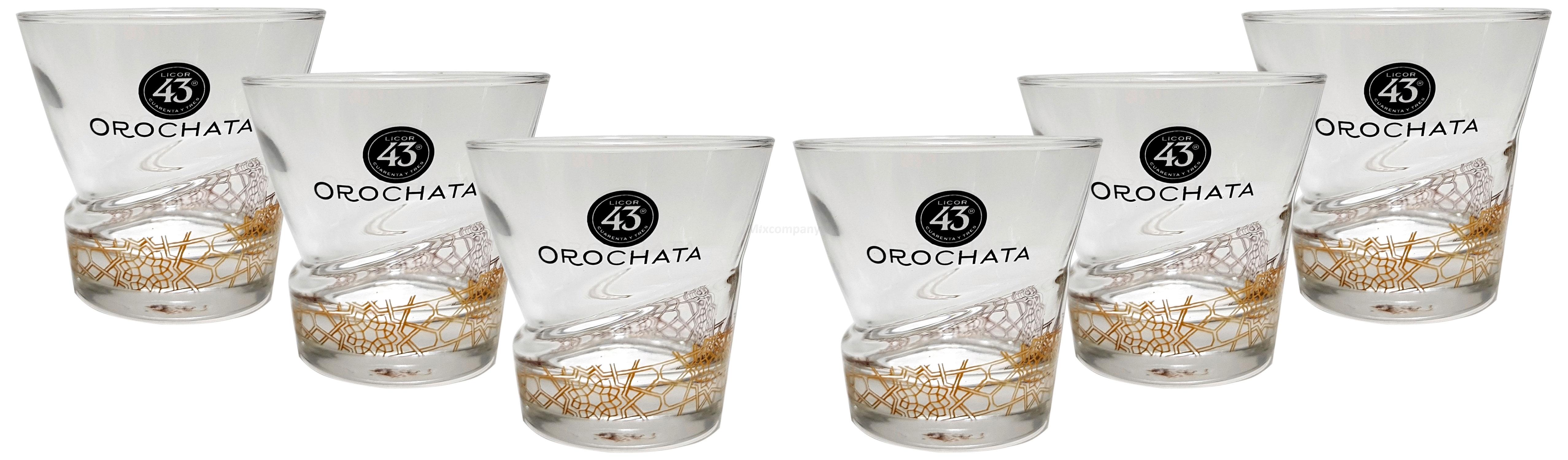 Orochata Tumbler licor 43 Cuarenta y Tres Glas Gläser-Set - 6x Tumbler Likör Liquor 43er