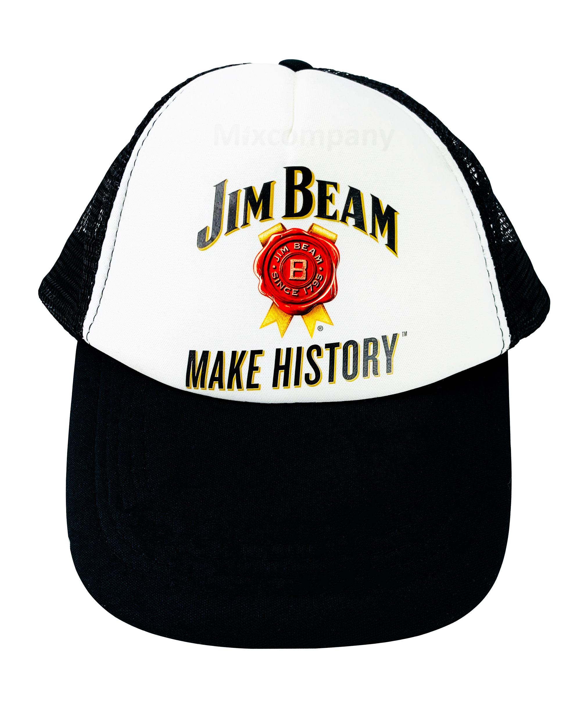 3x Jim Beam Make History 3er Kappe Basecap Cap Mütze whisky whiskey Party Festival Karneval
