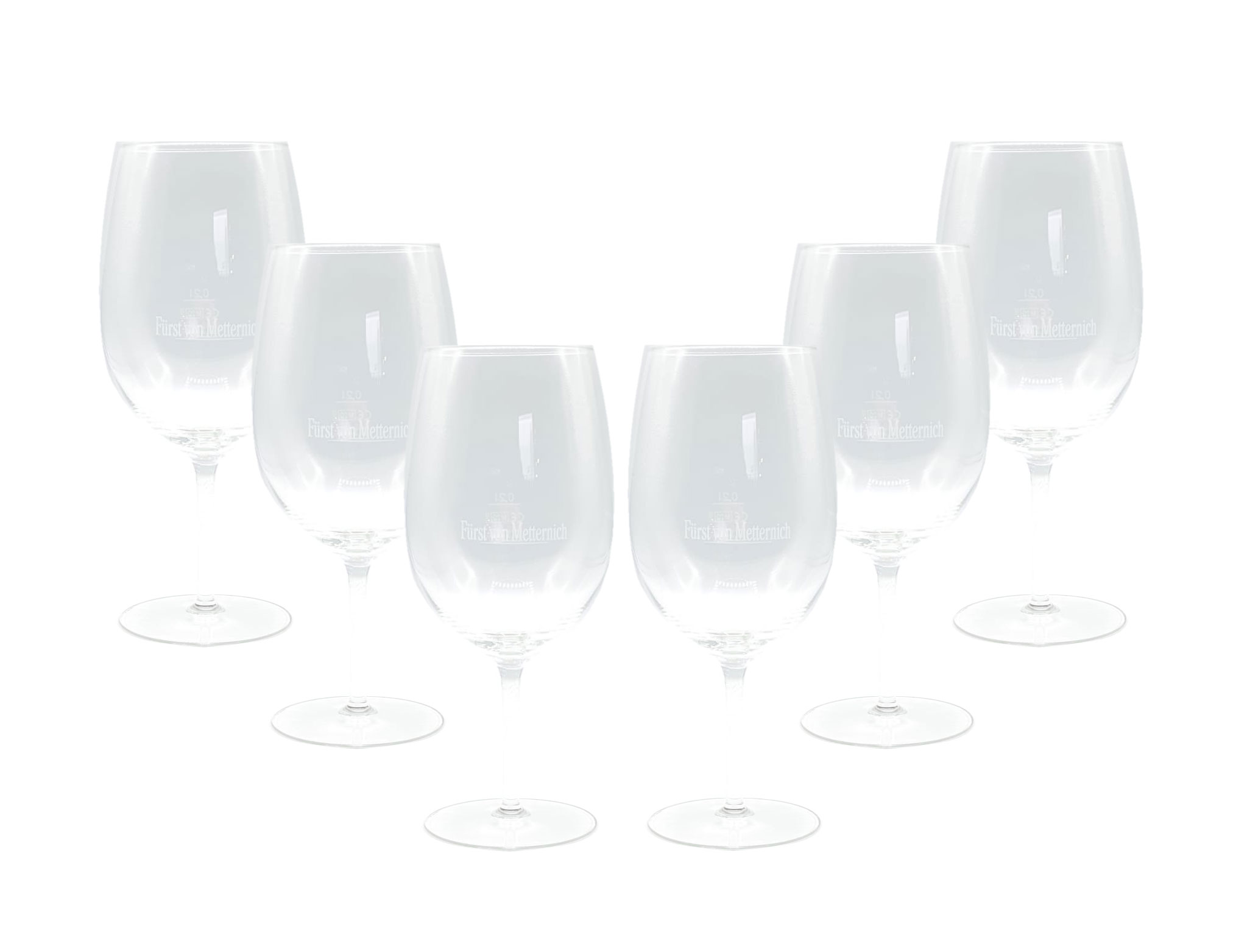 Fürst von Metternich Weinglas Ballonglas - 6er Set Gläser 0,2l geeicht