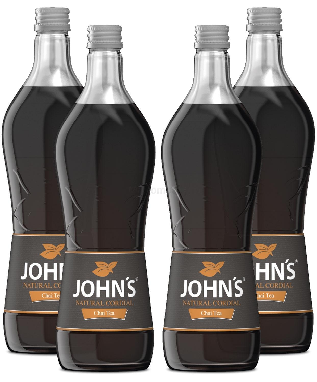Johns Chai Tea Sirup für Cocktails 4x 0,7l = 2,8 Liter