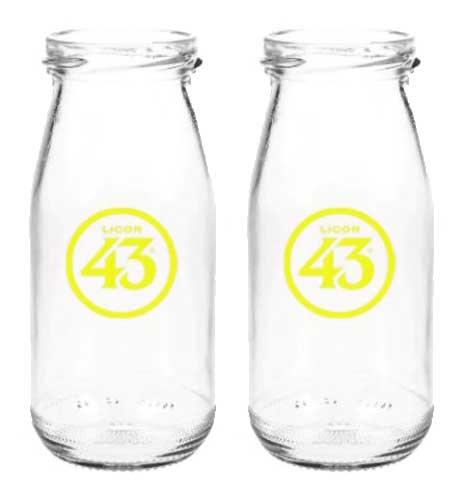 Licor 43 Milchflasche - 2er Set Milchglas Cocktailglas Likör Liquor 43er
