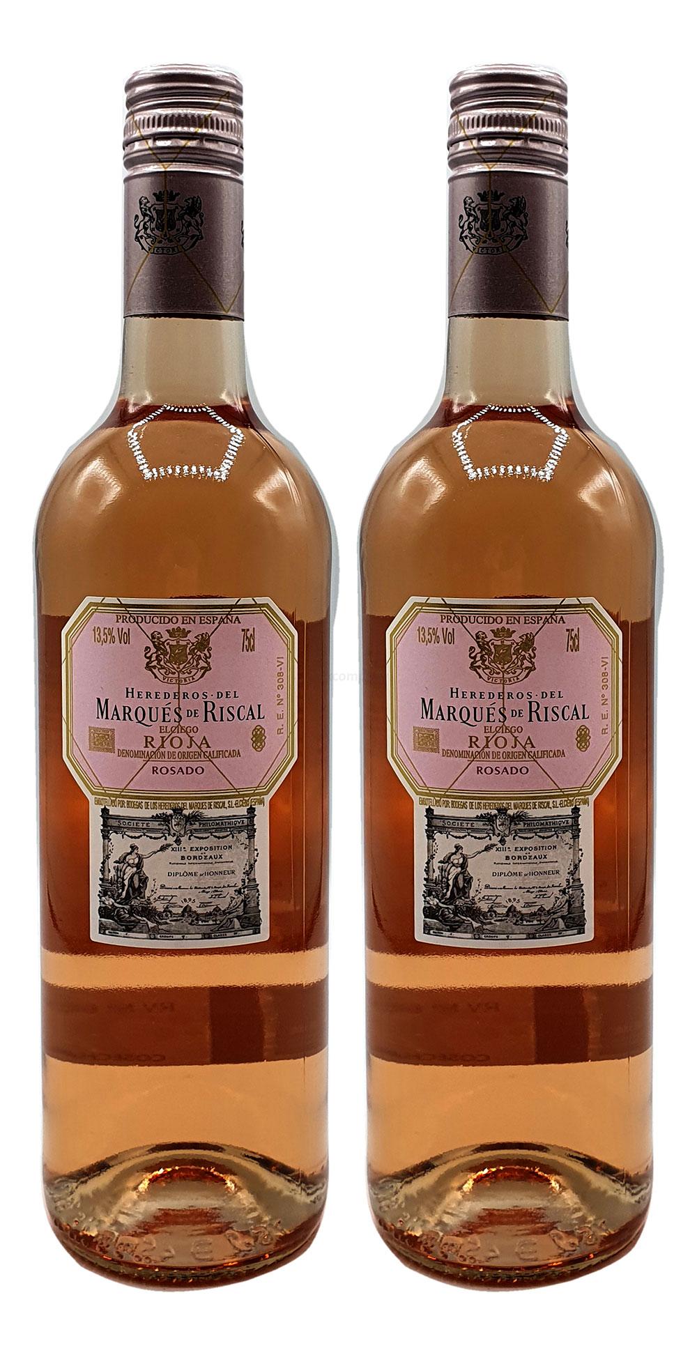 Rose Wein Set - 2x Marques de Riscal Rioja Rosado 750ml (13,5% Vol)- [Enthält Sulfite]