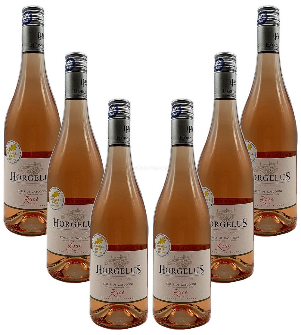 Rose Wein Set - 6x Horgelus Côtes de Gascogne Rosé 750ml (11,5% Vol)- [Enthält Sulfite]