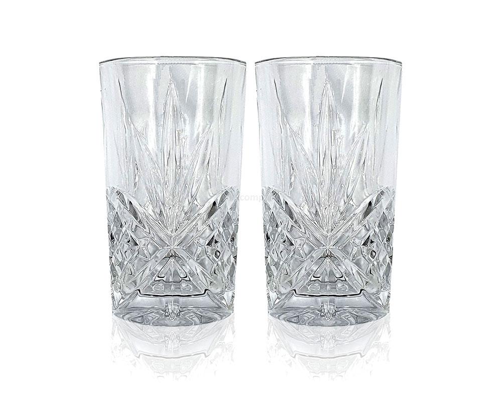 Mixcompany Longdrinkglas - 2er Longdrink Gläser Set - 2x Kristall Design Glas