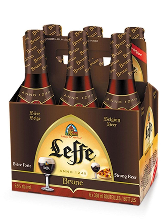 Leffe Brune belgisches Abtei stark Bier Six Pack - 6x 330ml (6,5% Vol) -[Enthält Sulfite] - Inkl. Pfand MEHRWEG
