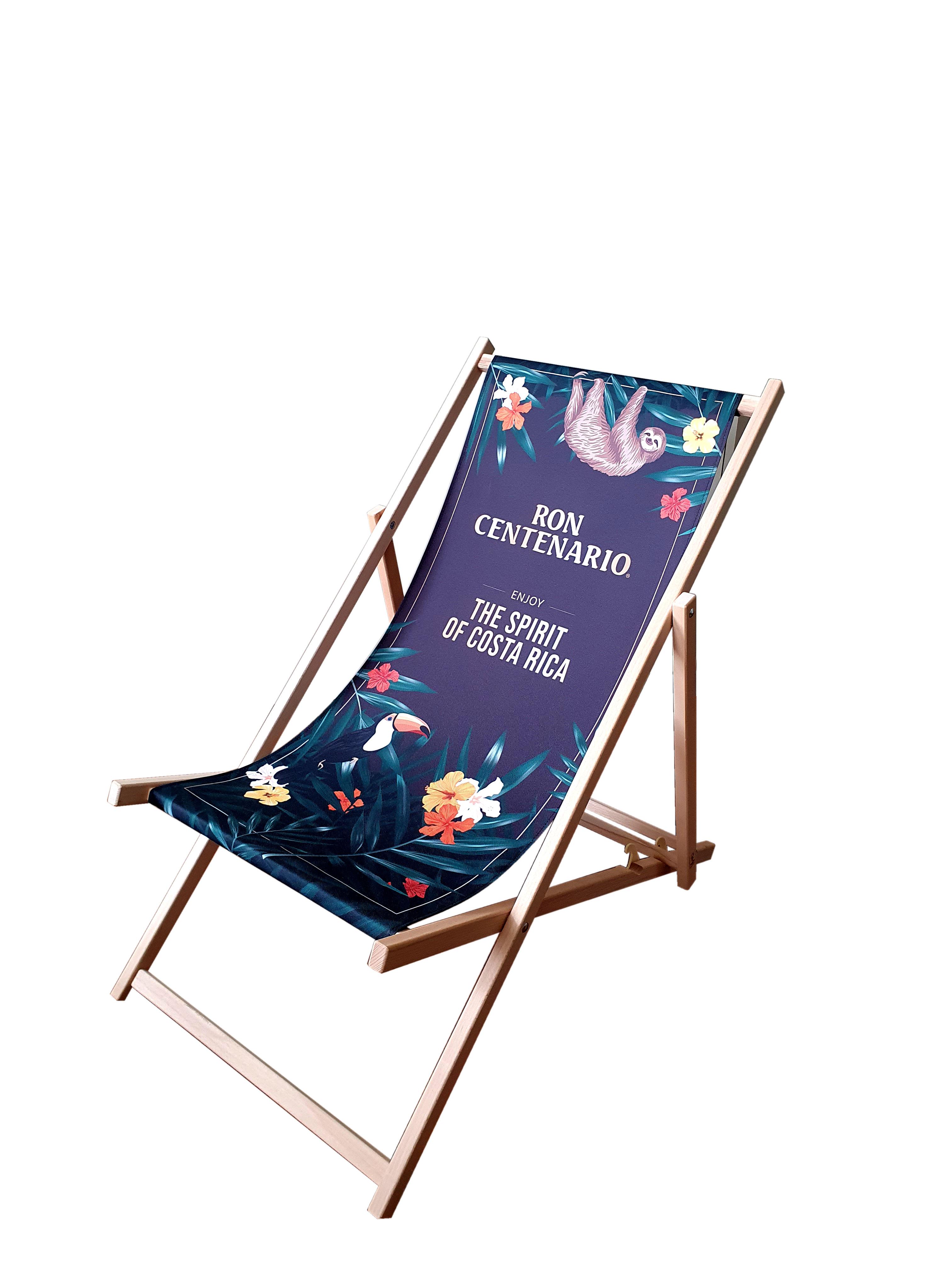 Ron Centenario Liegestuhl aus Buchenholz - dreifach verstellbar / Enjoy the Spirit of Costa Rica