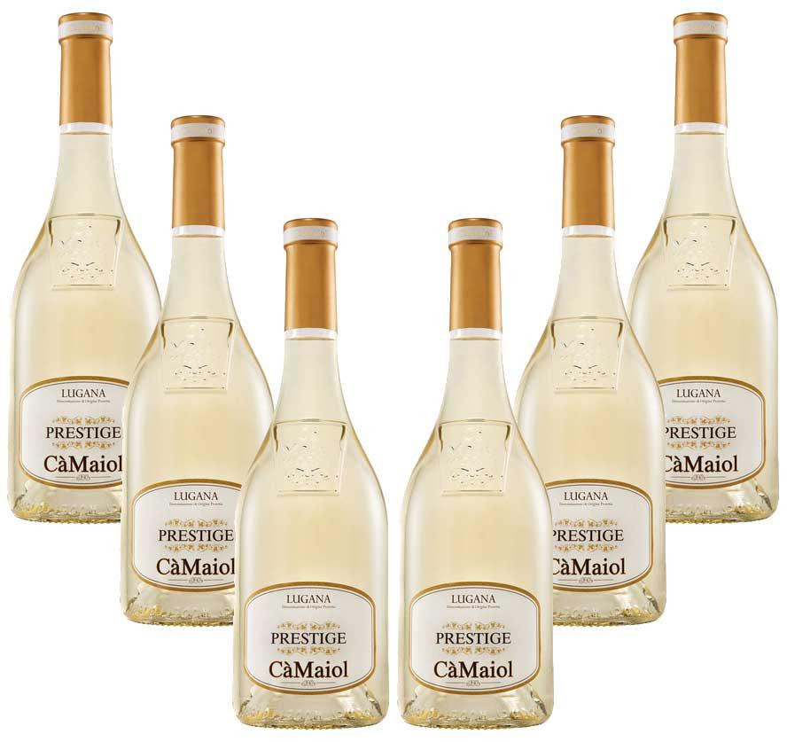 Prestige Lugana 6er Set Ca Maiol 6x 0,75L (13% Vol) Weißwein aus Italien- [Enthält Sulfite]