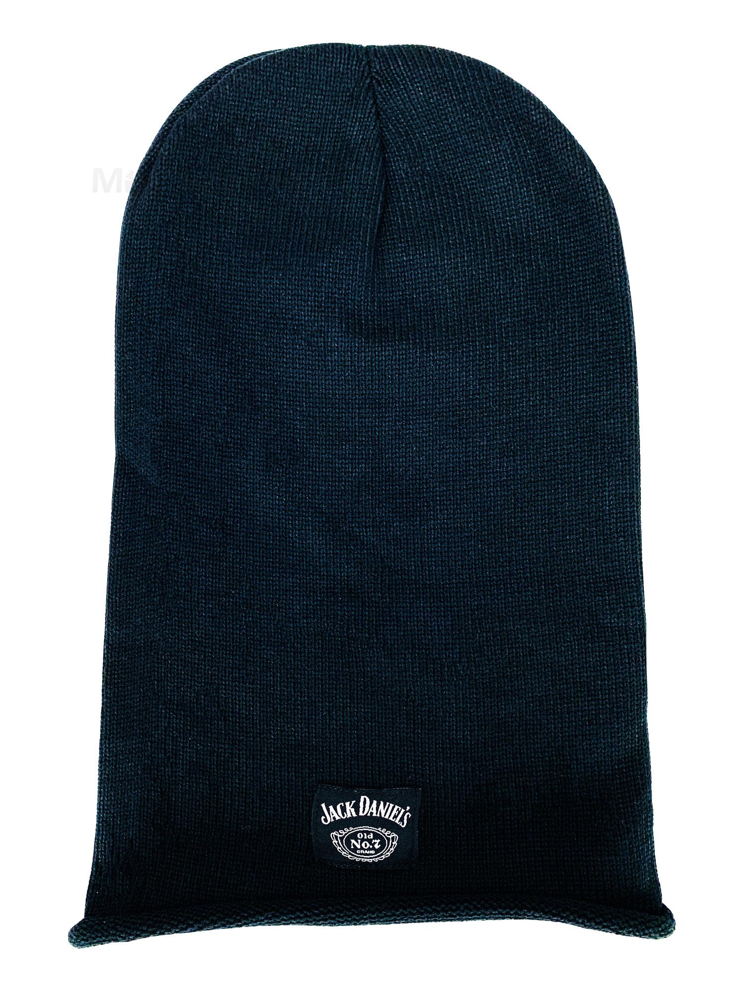Jack Daniels Beanie Mütze Polyacryl/Baumwolle Unisex schwarz