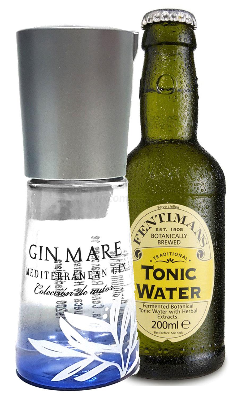 Gin Tonic Probierset - Gin Mare Mediterranean Gin 10cl (42,7% Vol) + Fentimans Tonic Water 200ml inkl. Pfand MEHRWEG