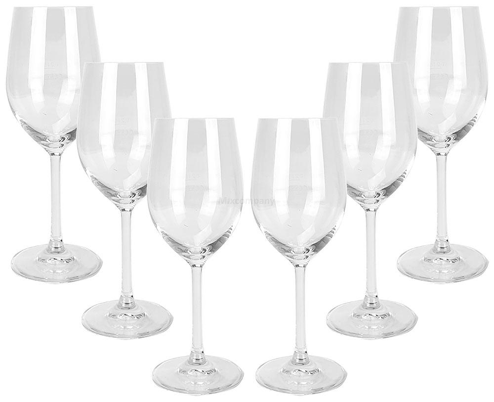 Stölzle Lausitz Weingläser - 6er Set Gläser / Glas / Rotwein / Weißwein mit 0,1L + 0,2L Eichung / Eichstrich