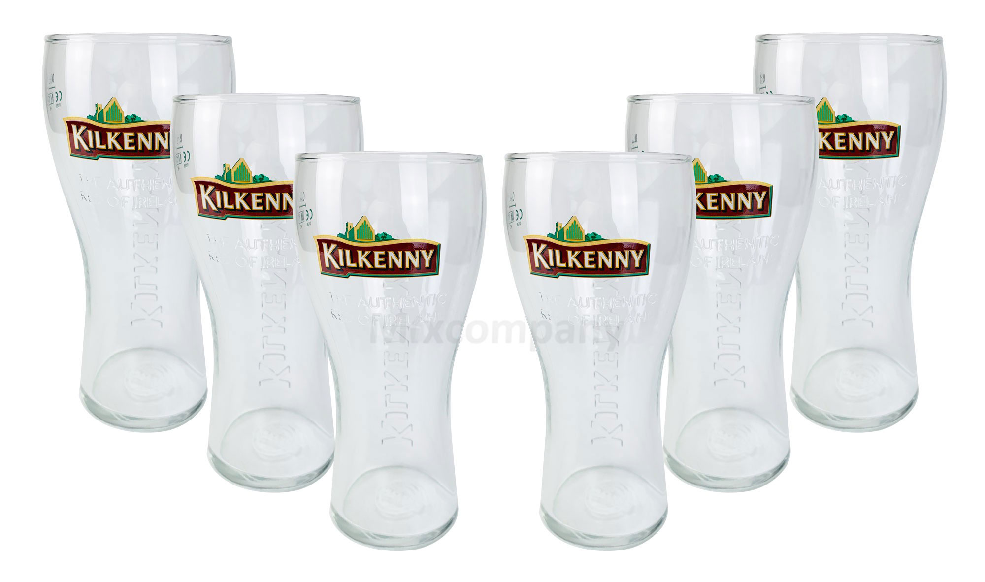 Kilkenny Bier Bierglas Glas Gläser Set - 6x Biergläser 0,2l geeicht