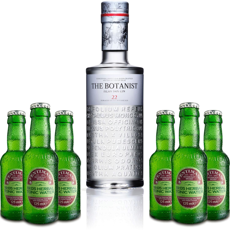 Gin Tonic Set - The Botanist Islay Dry Gin 0,7l 700ml (46% Vol) + 6x Fentimans Herbal Tonic Water 200ml inkl. Pfand MEHRWEG