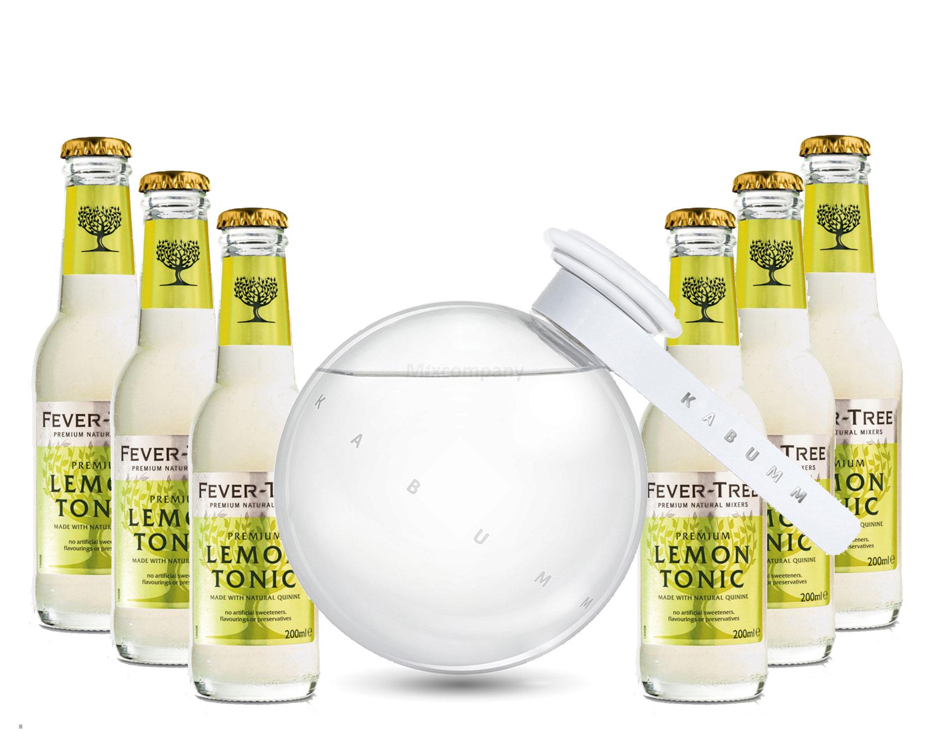Vodka Lemon Set - Kabumm Vodka 0,7l 700ml (40% Vol) + 6x Fever Tree Lemon Tonic 200ml inkl. Pfand MEHRWEG