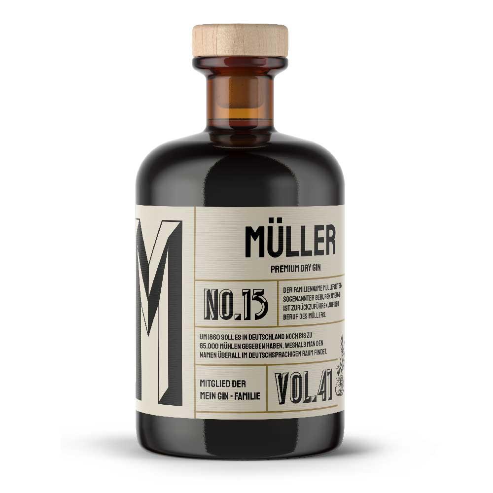Mein Gin - Müllers Premium Dry Gin No13 - Der Müller Gin 0,5L (41% Vol)