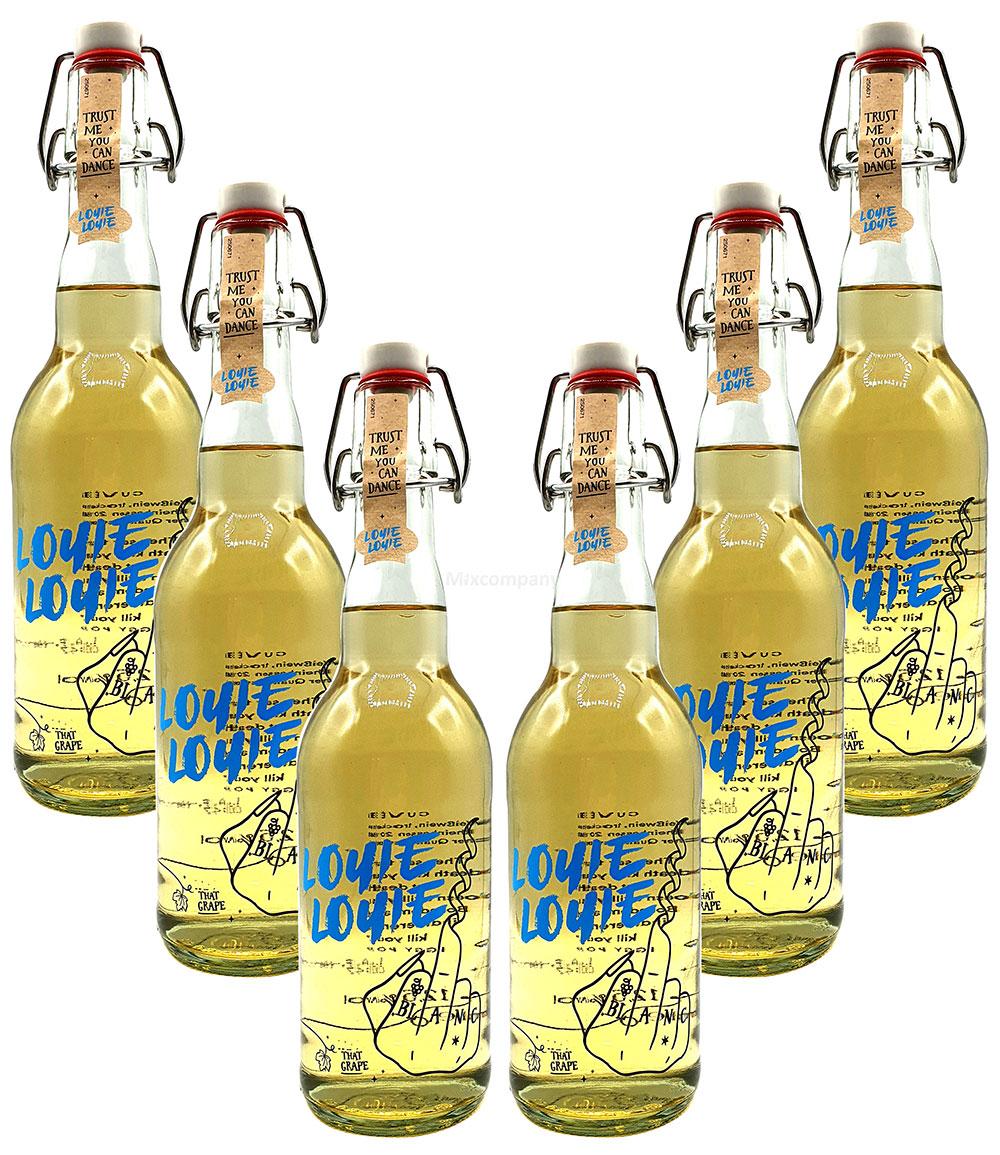 Louie Louie Cuvee Weißwein - 6er Set Louie Weißwein - Trust me you can dance - 6x0,5l (12,5% Vol) [Enthält Sulfite]