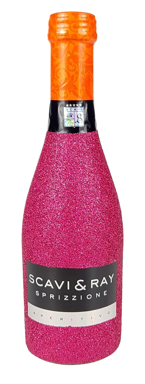 Scavi & Ray Sprizzione Aperitivo 20cl (8% Vol) - Bling Bling Glitzerflasche in hot pink -[Enthält Sulfite]