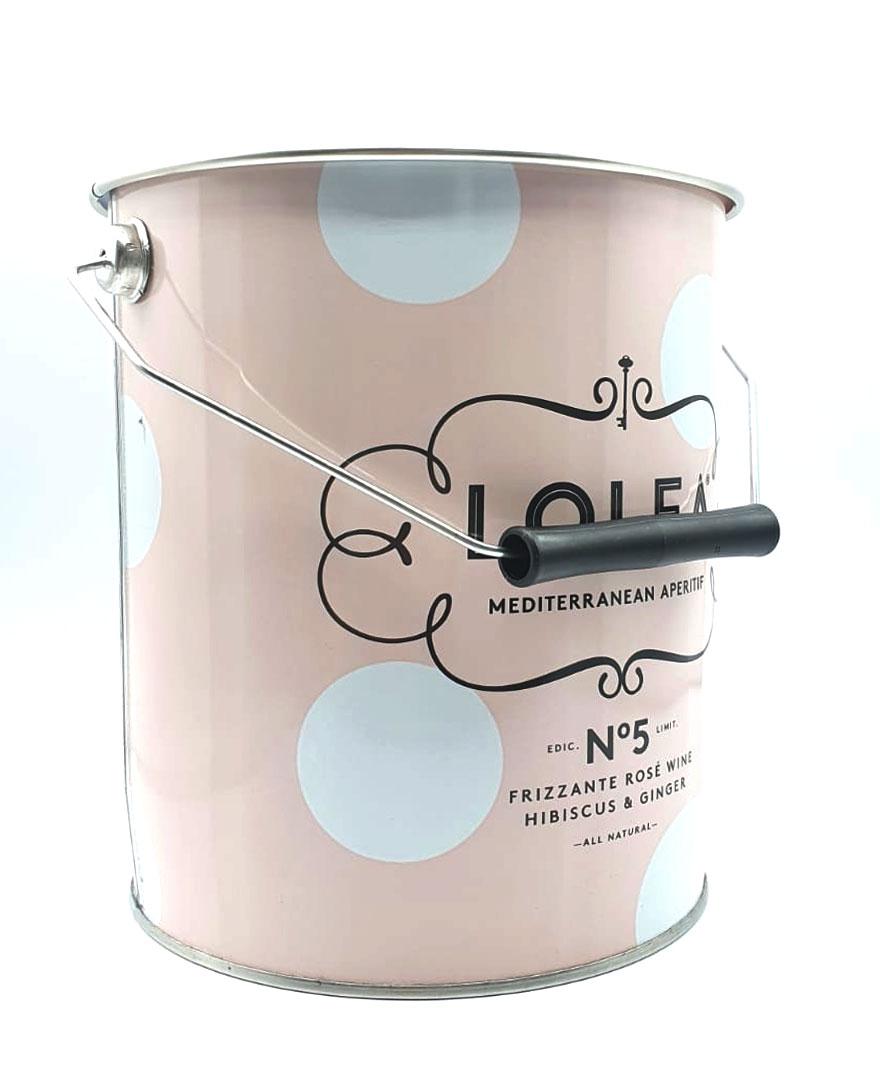 Lolea Sangria No5 Kühler Flaschenkühler mit Henkel Eiskühler mit Griff Getränkekühler in Rosa