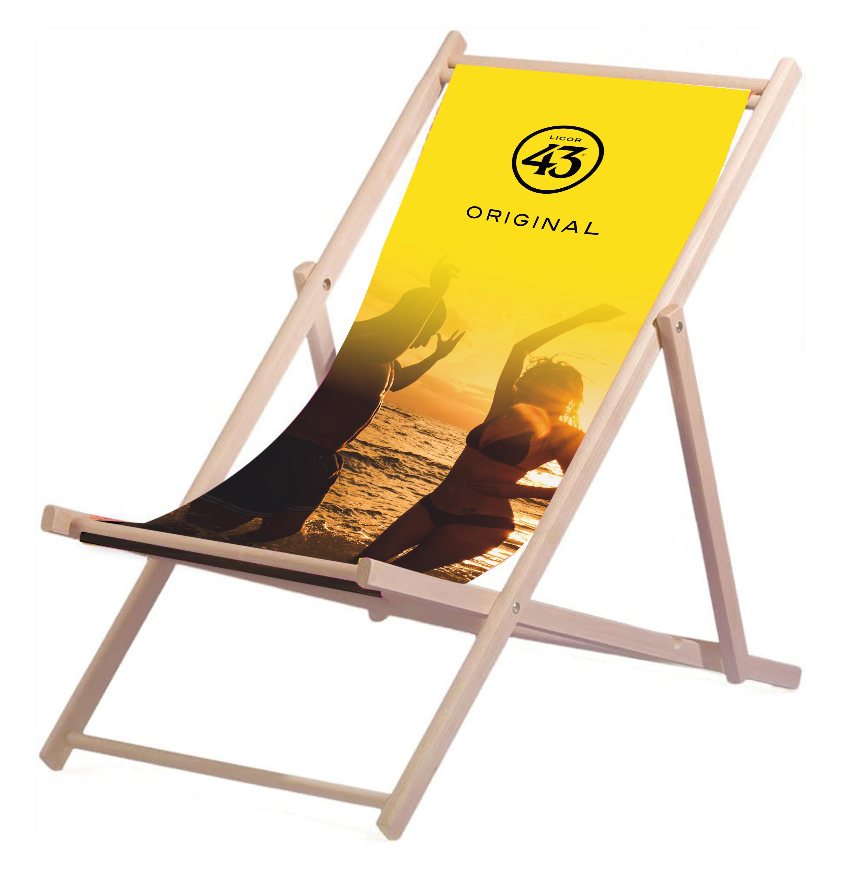 Licor 43 Liegestuhl Stuhl aus Holz Gartenliege Klappstuhl gelb