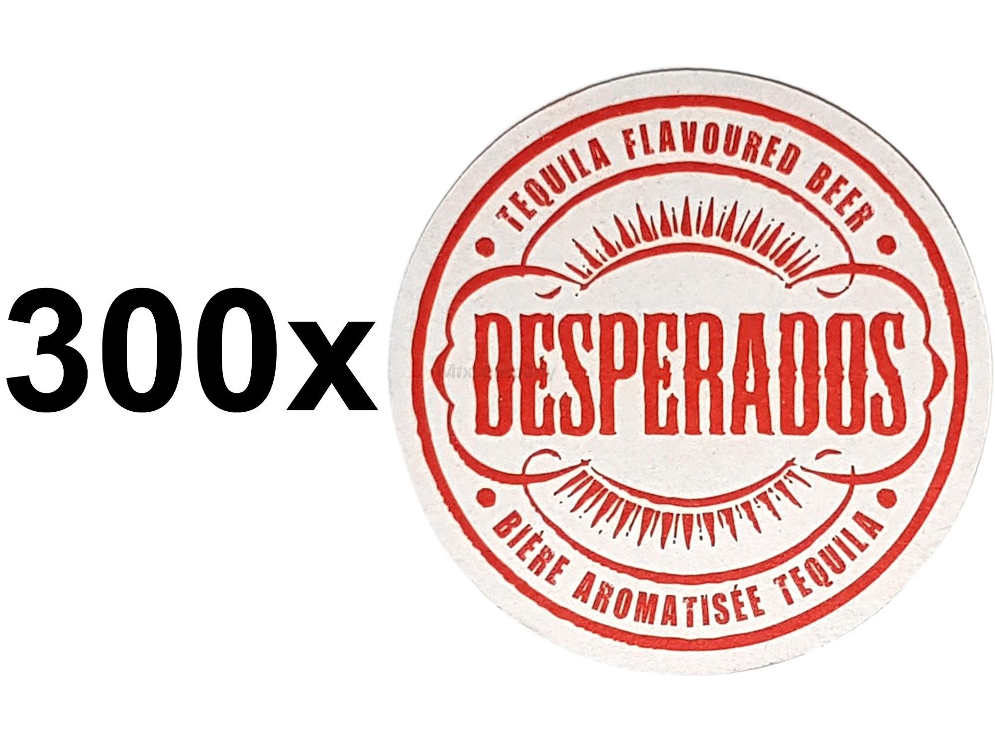 Desperados Bierdeckel Untersetzer Unterlage Pappdeckel Bierfilz Aktion - 300 Stück (3x 100er Packung)