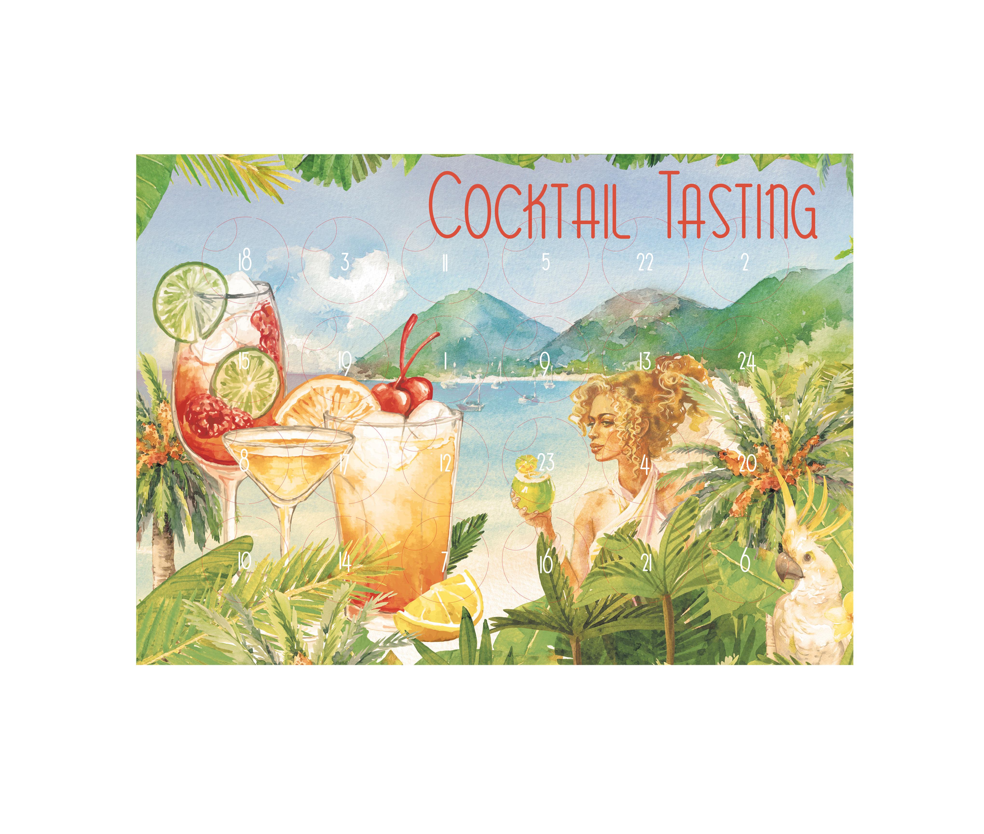 Cocktail Tasting Kalender - 24x verschiedene ready to drink Getränke im Adventskalender - Weihnachtsgeschenk Pina Colada Mai Tai Caipirinha Lolea Mojito Negroni Old Fashion White Claw und viele mehr Geschenk Set Probiers