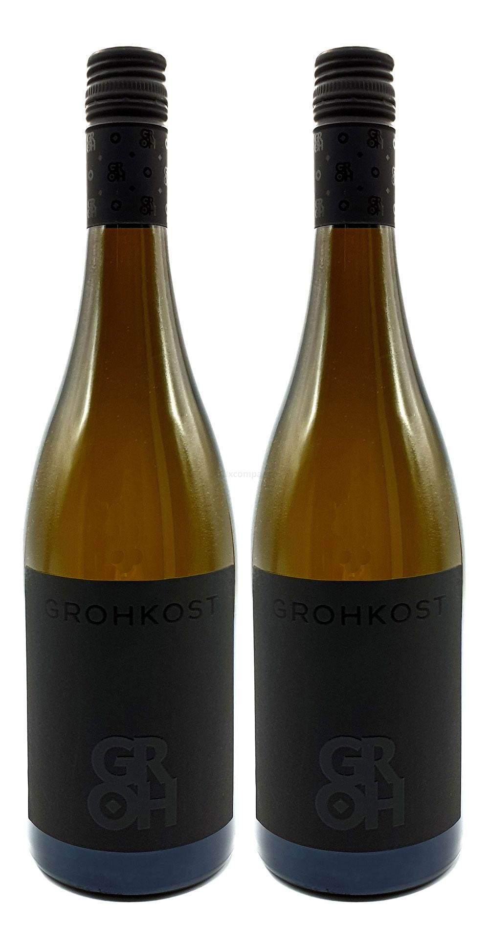 Groh - 2er Set Grohkost Weissburgunder Trocken - Deutscher Qualitätswein 2018 0,75L (14,0% Vol) -[Enthält Sulfite]