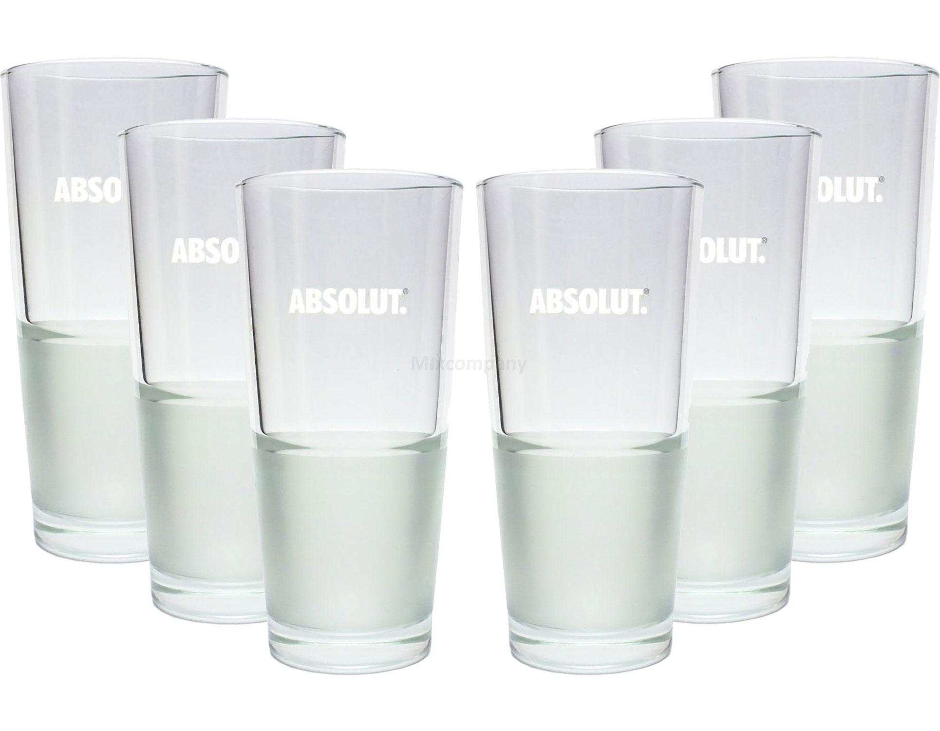 Absolut Vodka Frozen Glas Gläser-Set - 6x Longdrink Gläser