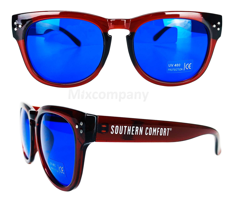 Southern Comfort Nerd Sonnenbrille blau UV400 Unisex Retro Vintage Style Party Festival Bar