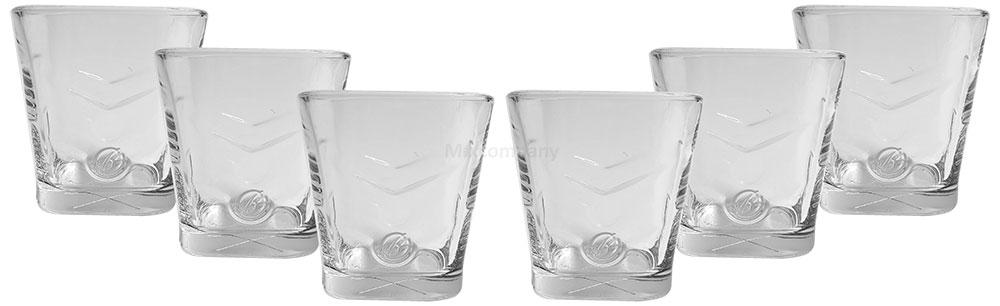 Ballantines Gläser - Glas / Gläser Set - 6x Tumbler eckig