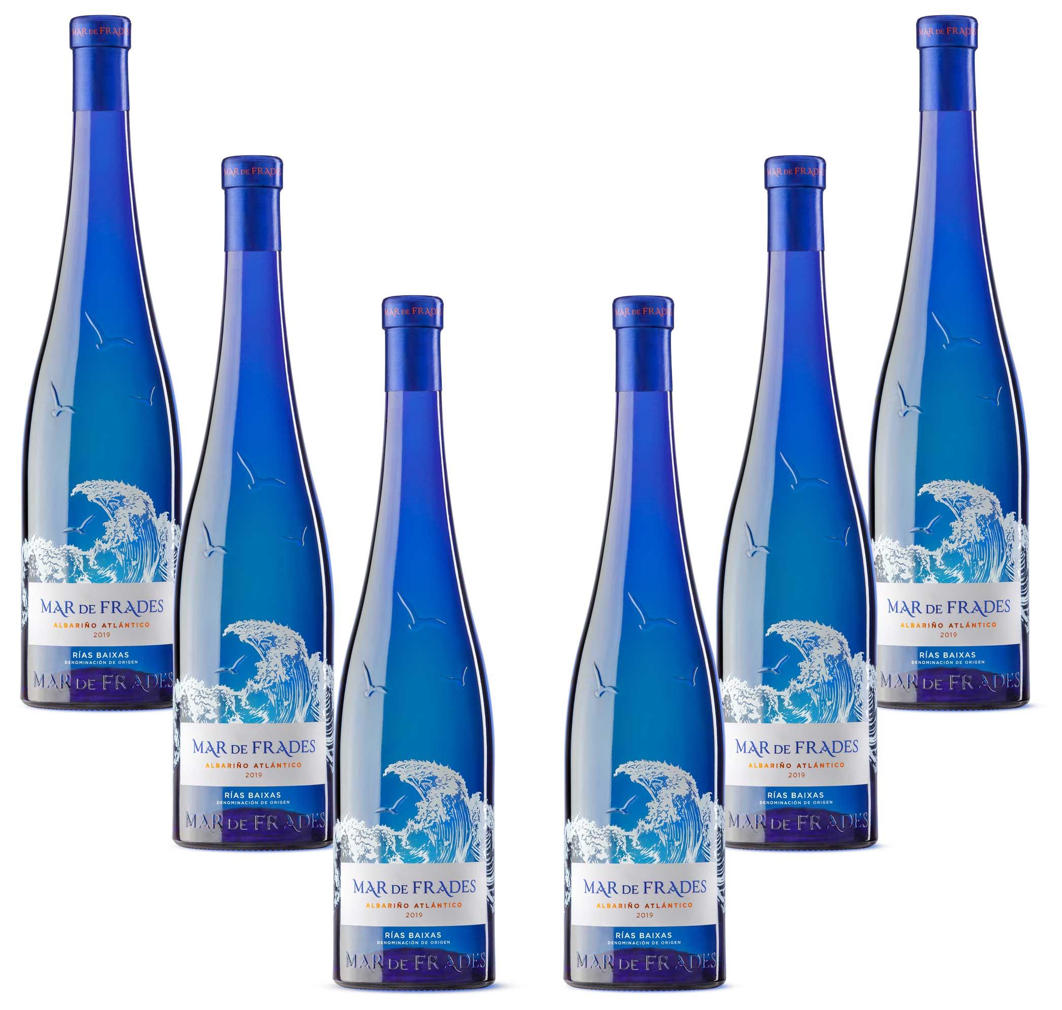 Mar de Frades 6er Set Albarino Atlantico 0,75L (12,5% Vol) 6x Weißwein Trocken Rebsorte: 100% Albarino- [Enthält Sulfite]