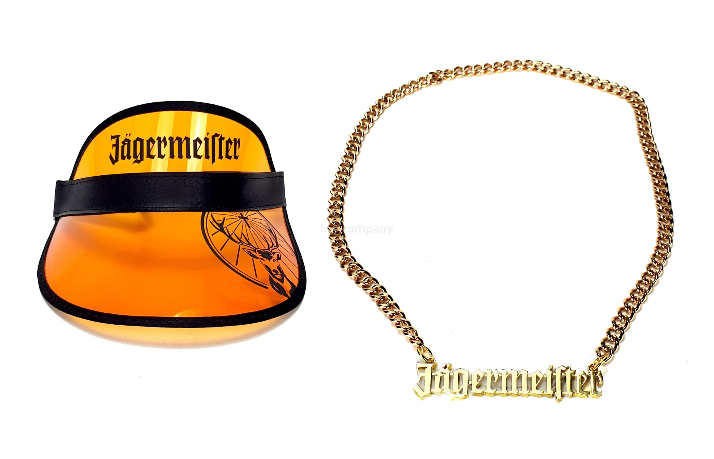Jägermeister Party Set - Visor Kappe + Goldkette