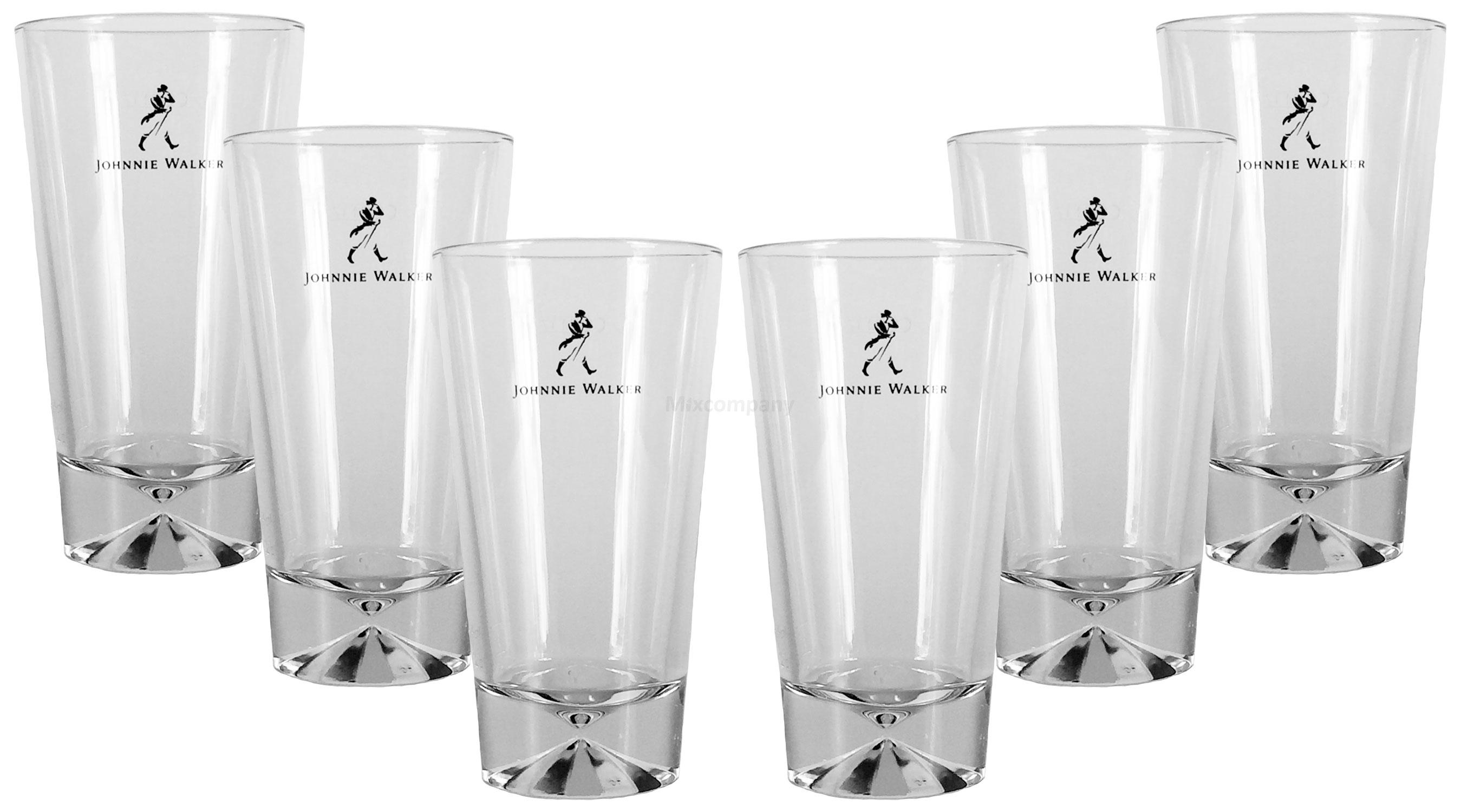 Johnnie Walker Longdrink Glas Gläser - 6er Set
