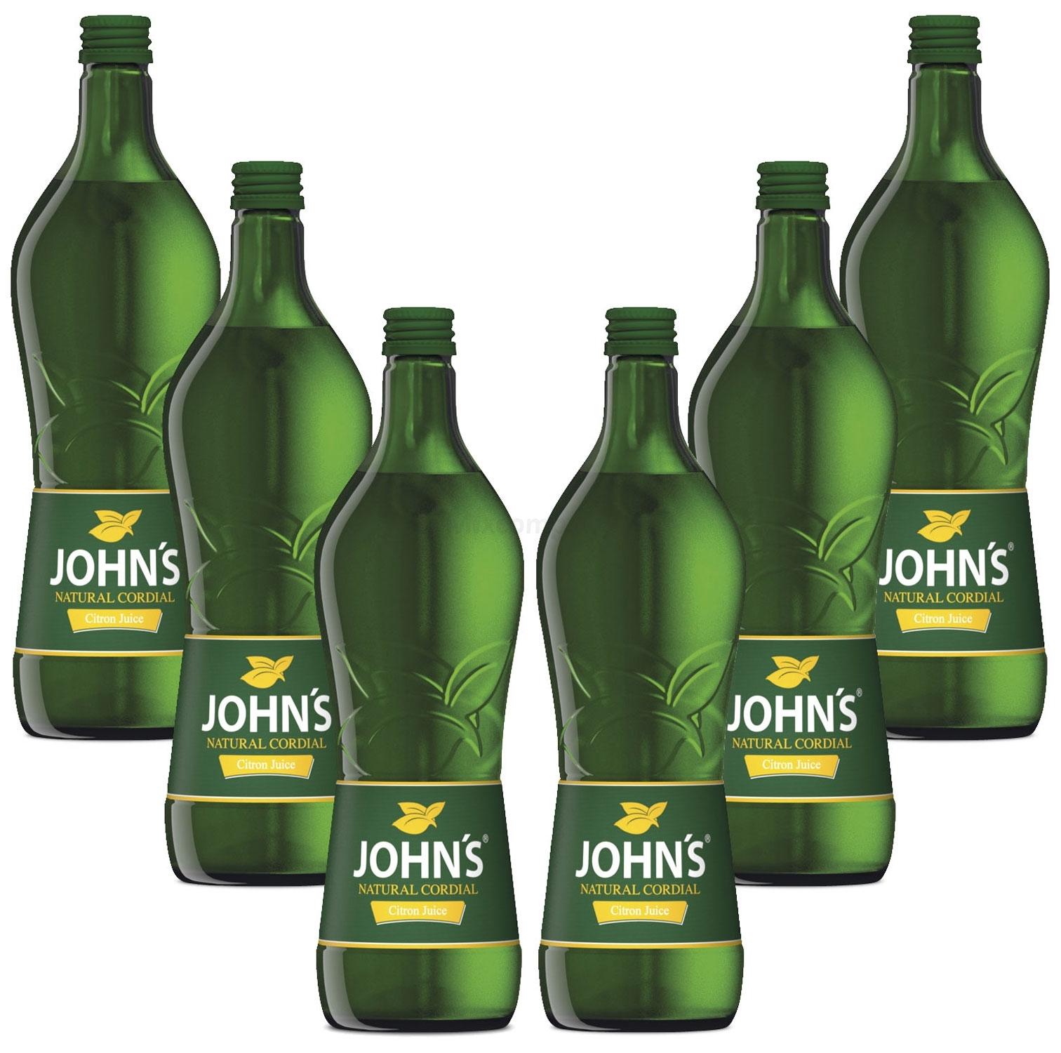 Johns Citron Juice Sirup für Cocktails 6x 0,7l = 4,2 Liter