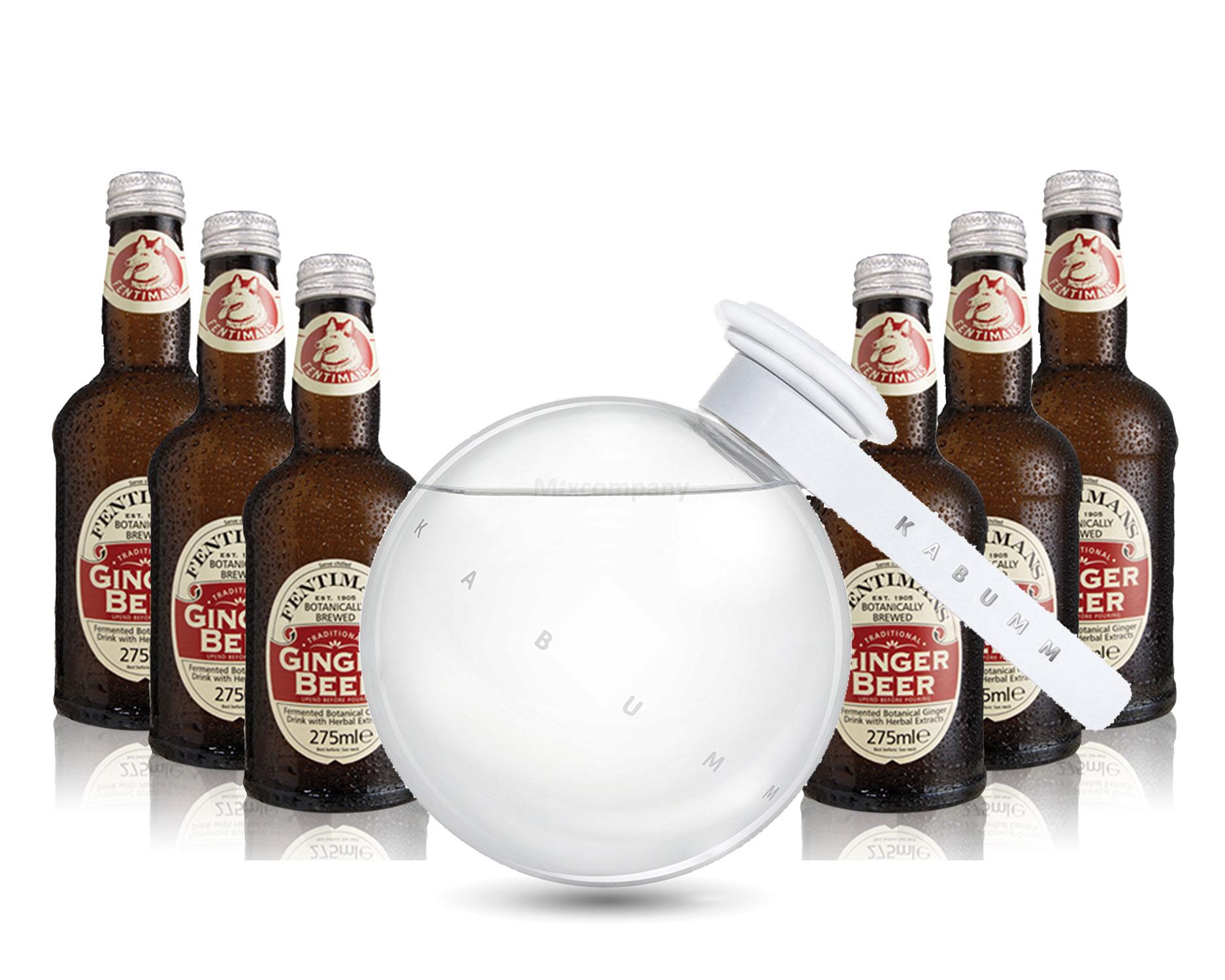 Moscow Mule Set - Kabumm Vodka 0,7l 700ml (40% Vol) + 6x Fentimans Traditional Ginger Beer 200ml - Inkl. Pfand MEHRWEG