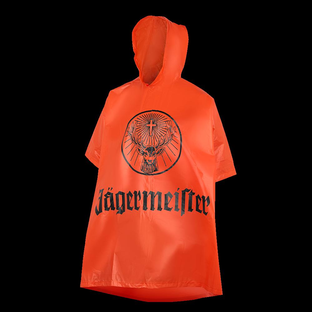 Jägermeister Poncho Regenmantel Regenjacke Regencape Regenponcho Regenumhang Festival Regenschutz