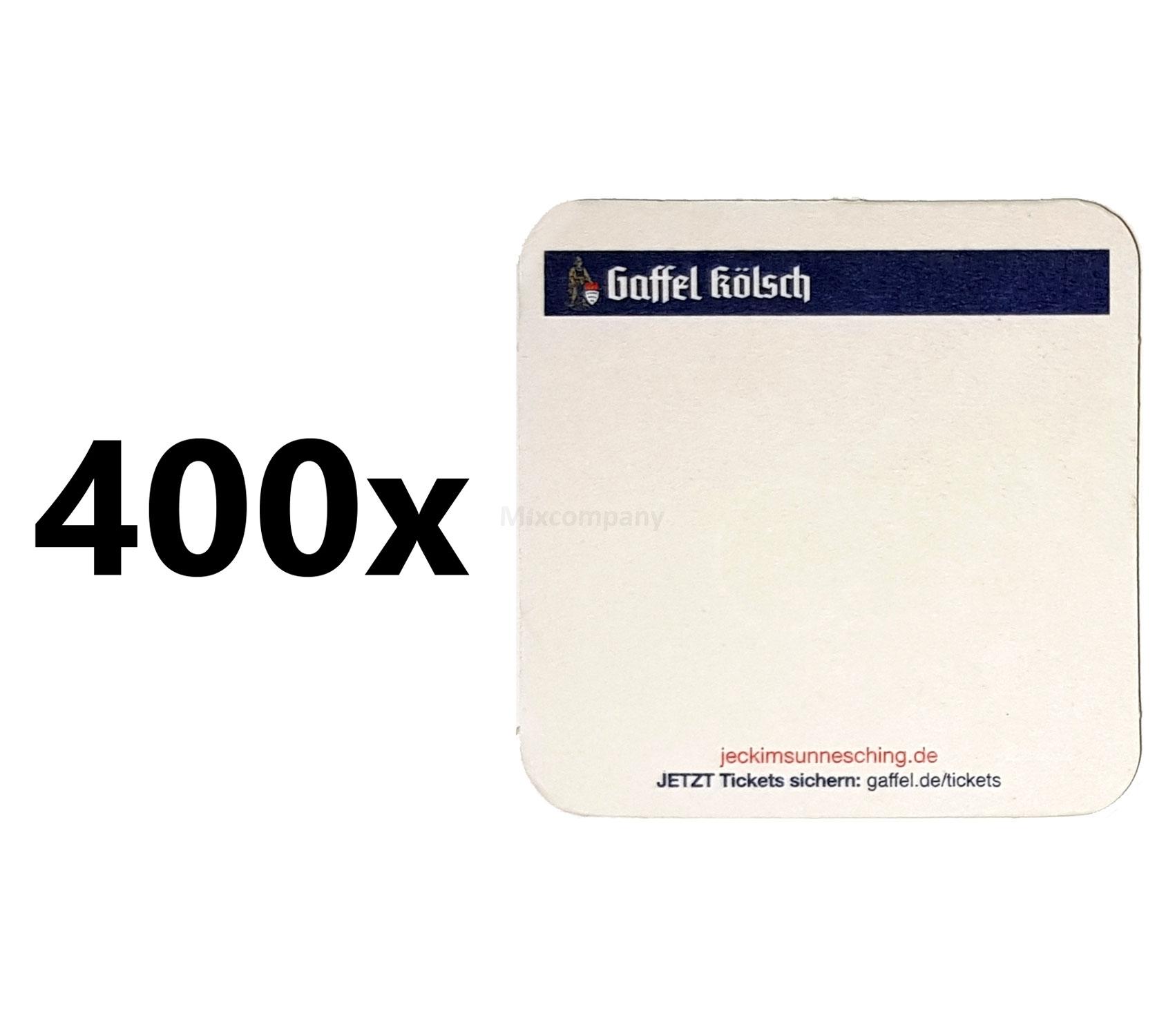 Gaffel Kölsch Bierdeckel / Untersetzer - 400 Stück